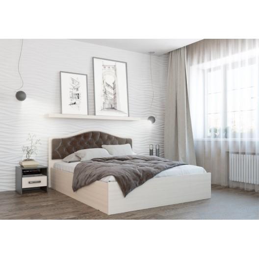 Кровать с мягким изголовьем Дели